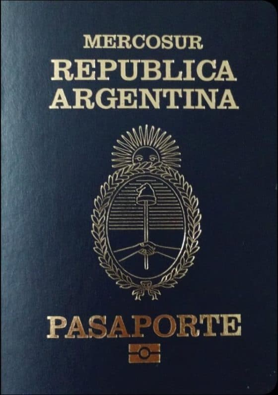 Pasaporte Argentino frente